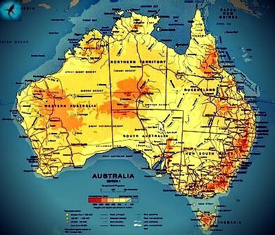 Австралия омывается морями двух