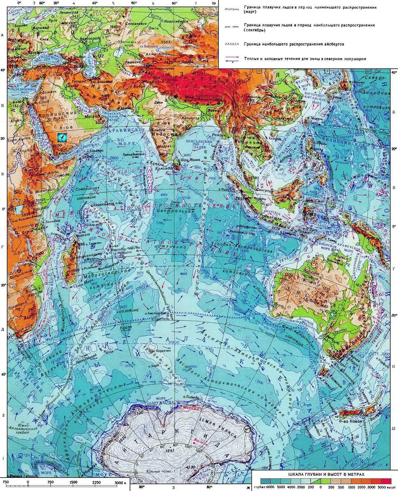 Бенгальский залив глубина
