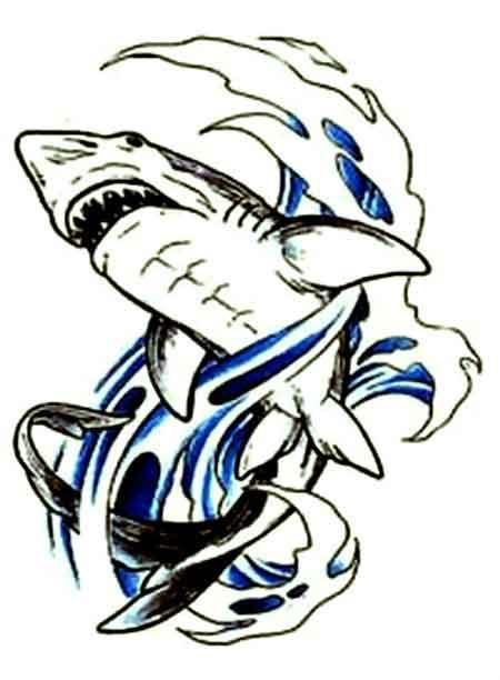наклейки акула что означает